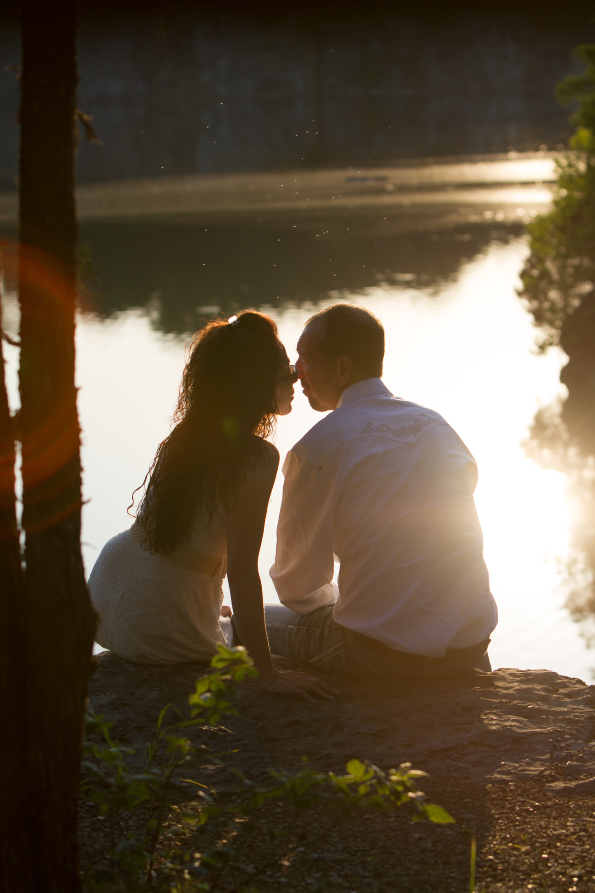 Romantic Engagement Nashville Sunset