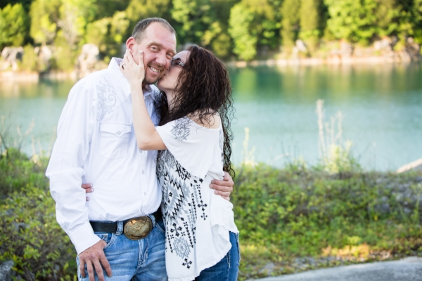 Rock Quarry Engagement Photos