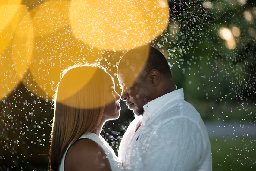 A perfect end to their amazing engagement session.