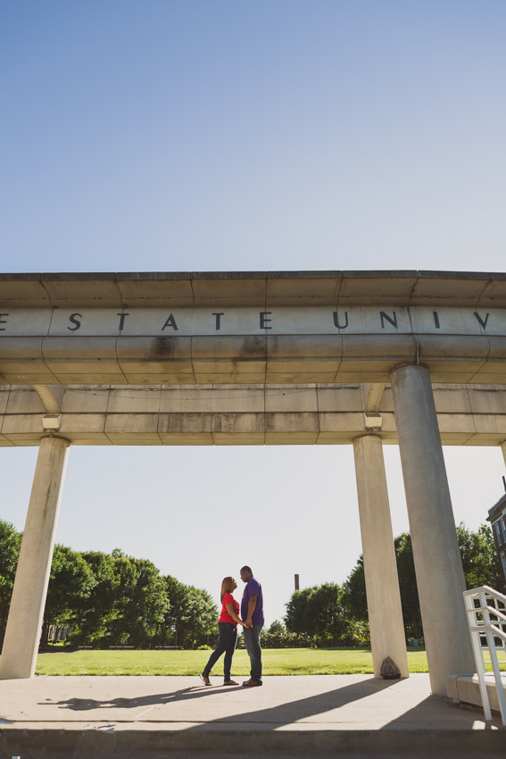 Tennessee State University holds special meaning to Lauren & Desmond and was the perfect location for their engagement session.