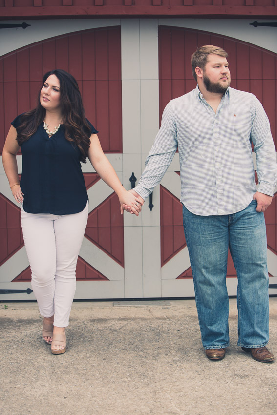 Kassie and Brian make even a barn door look good