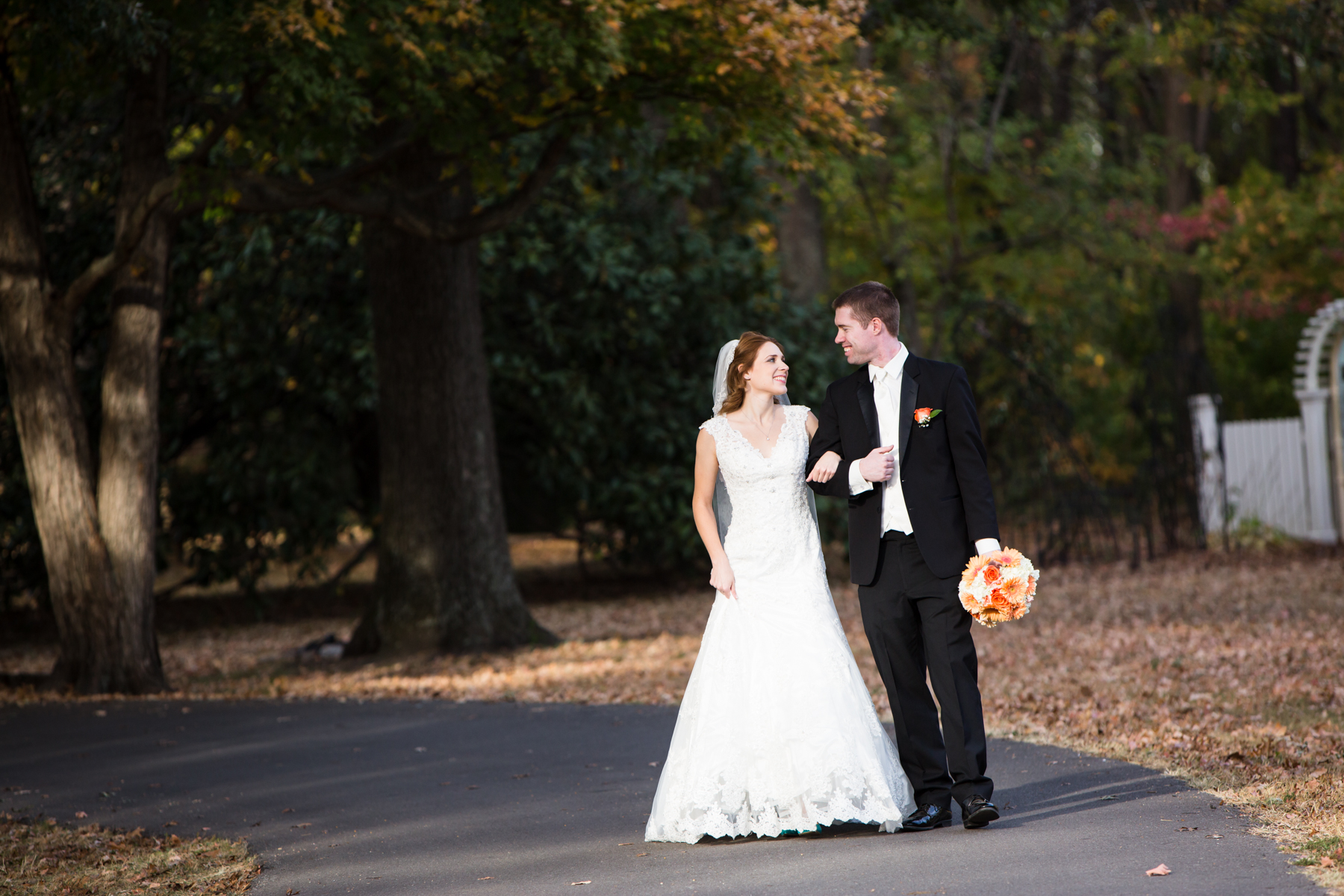 The benefit of doing a first look is it allows time for photographs like this. Kayli and Kevin had their first look at Oaklands Mansion before their ceremony in Smyrna.