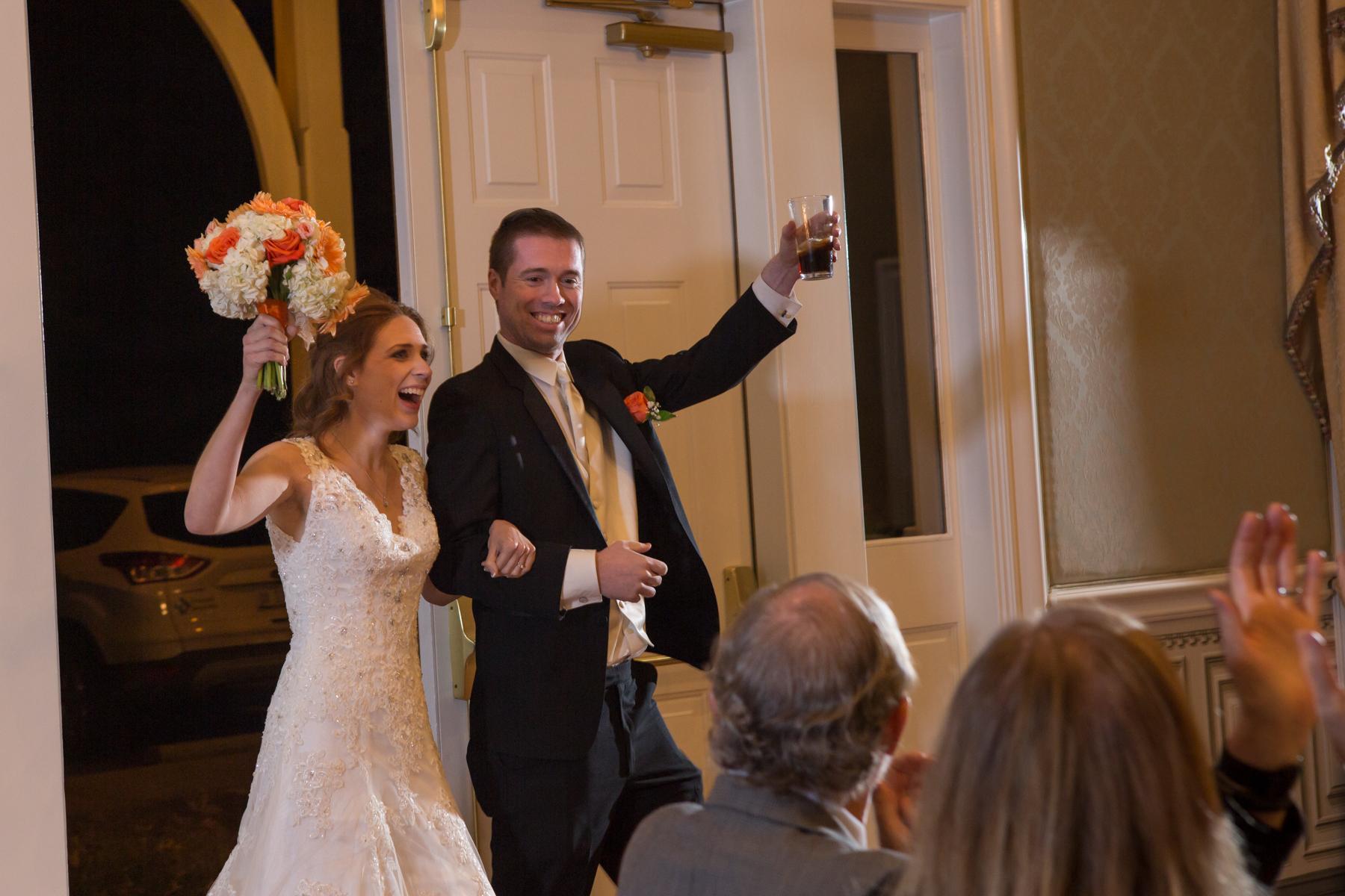 Grand Entrance Oaklands Wedding Photo