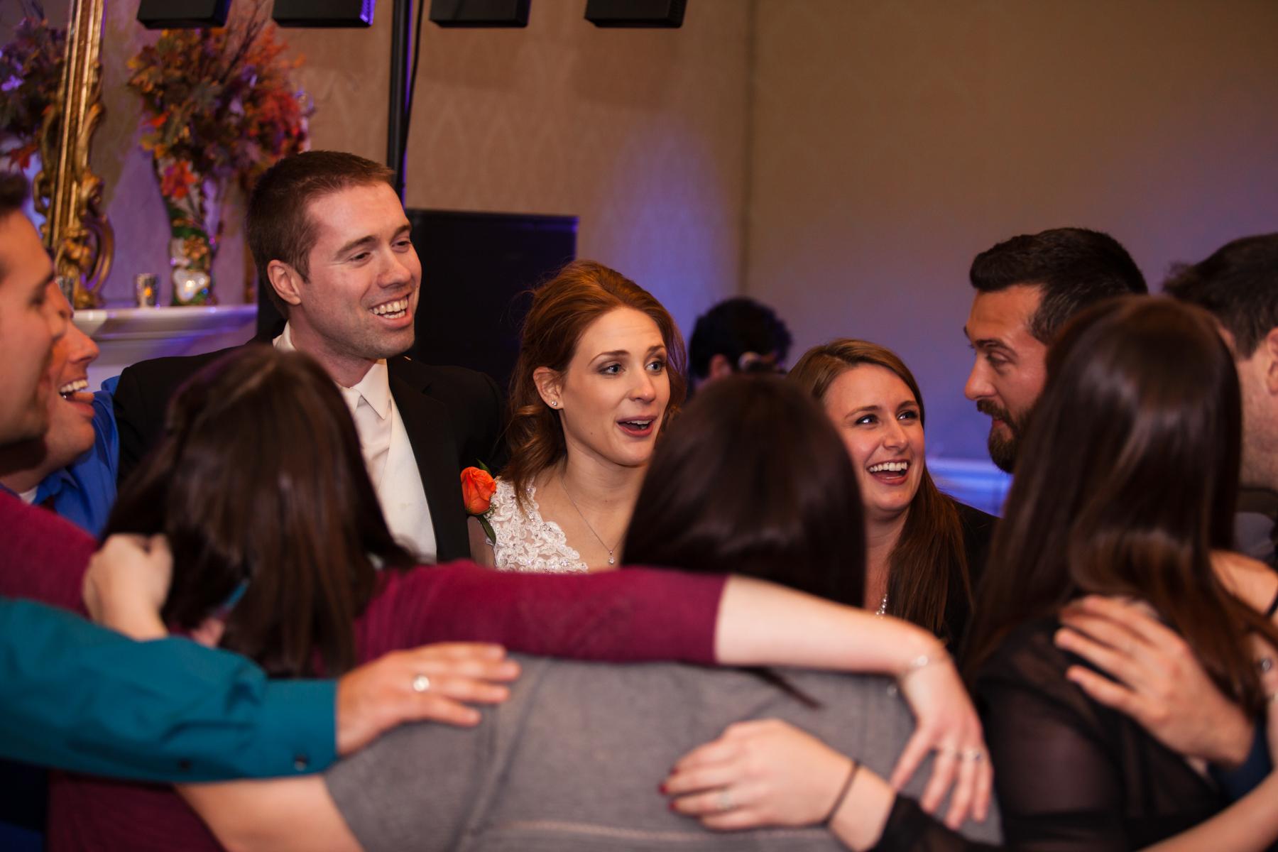 Happy Wedding Reception Photo at Oaklands Mansion