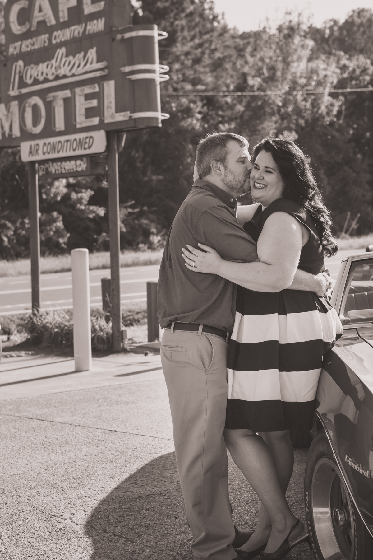 We love black and white photos and it works so great with these two!