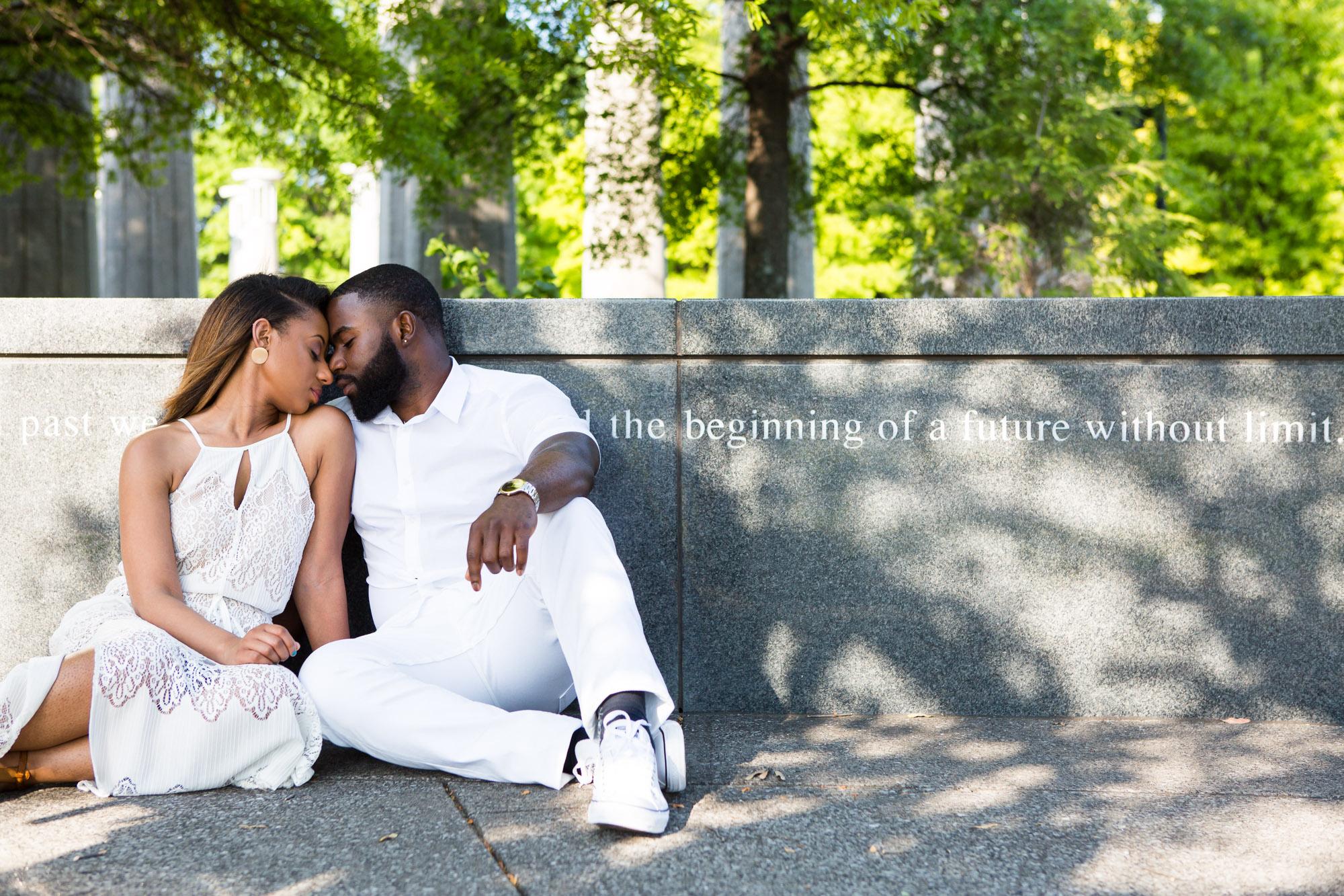 Stylish celebration of being engaged