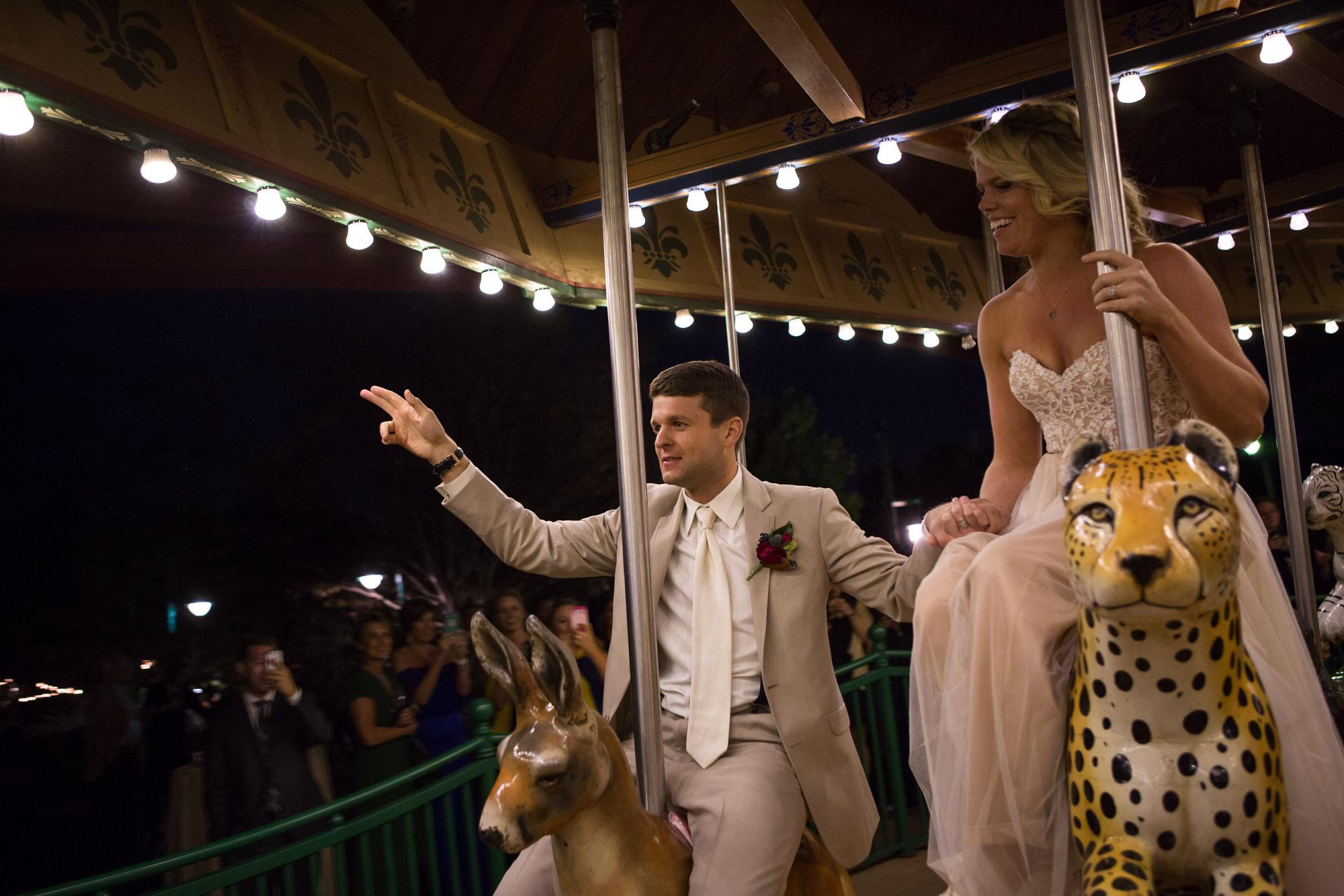 wedding carousel ride