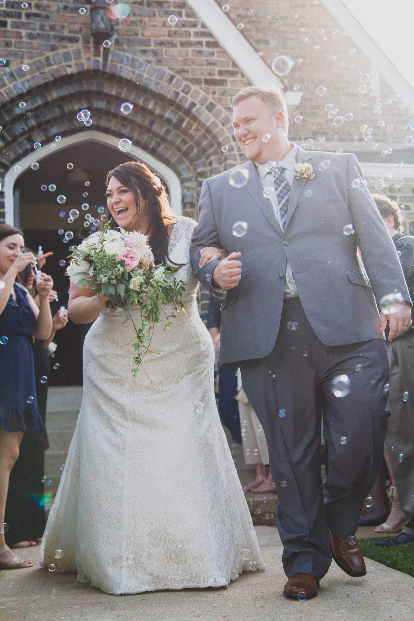 wedding day bubbles