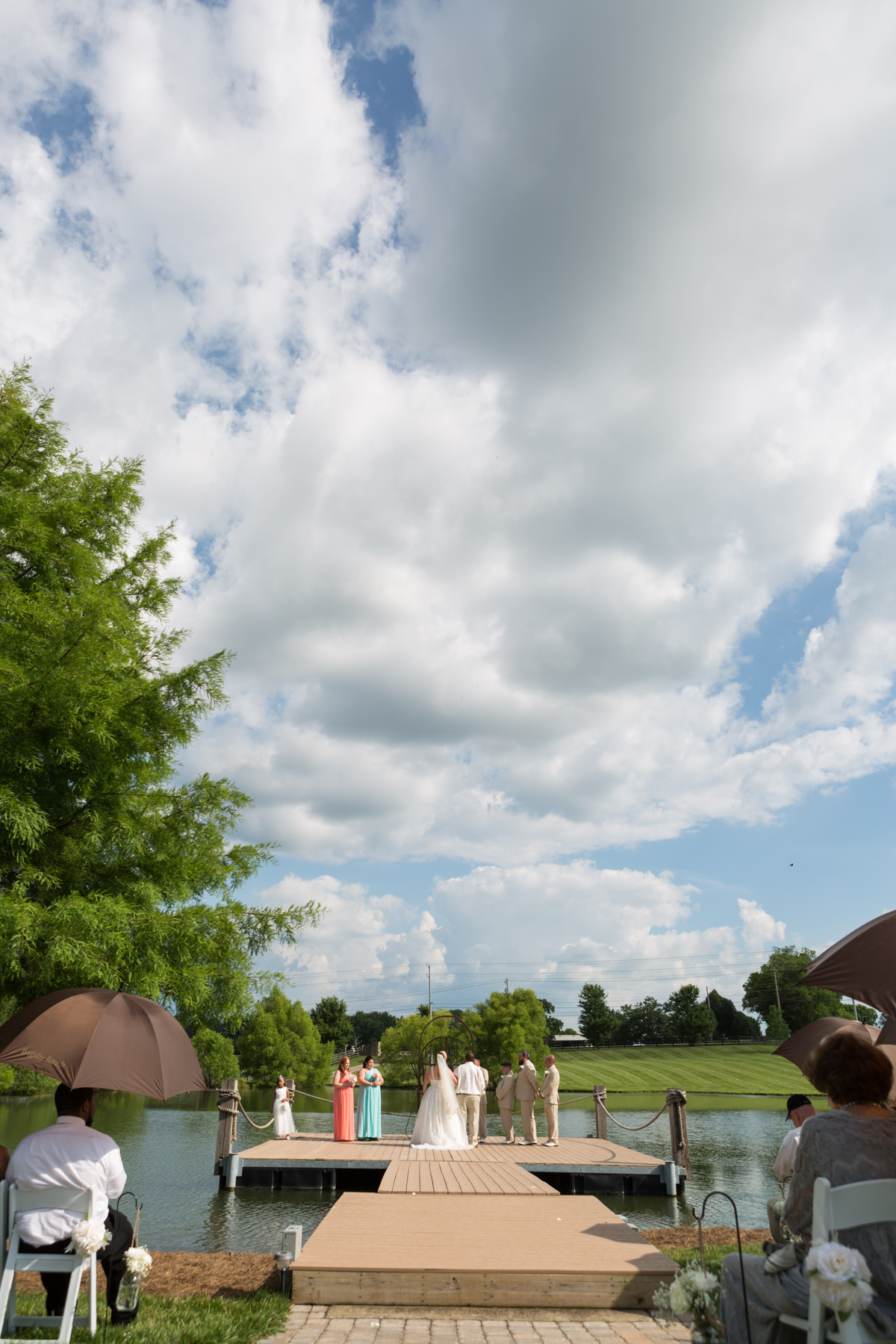 summertime wedding day