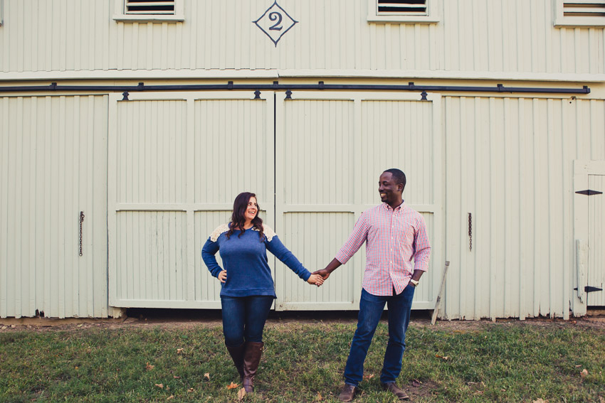 Barn engagement Pic at Clover Bottom