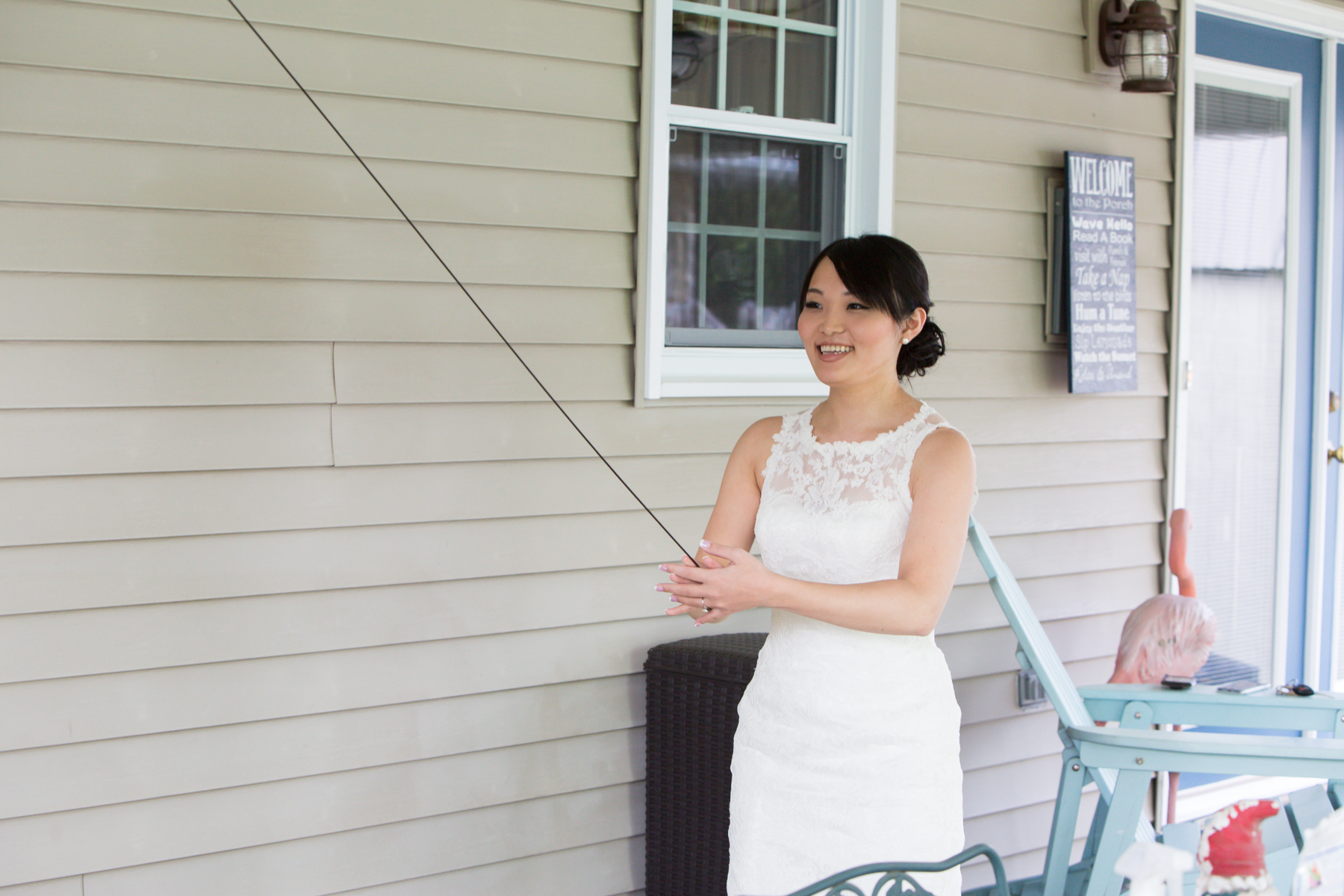 Dressed, ready and gorgeous with time to relax and play a game. That's a wedding day success