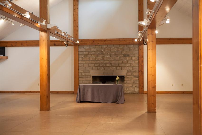 Reception Barn space inside Travelers Rest Plantation Barn