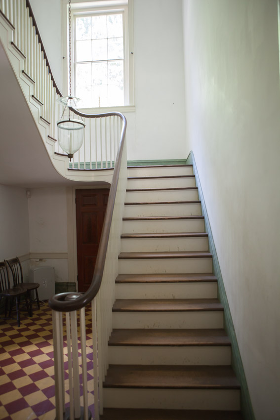 The staircase inside Travellers Rest