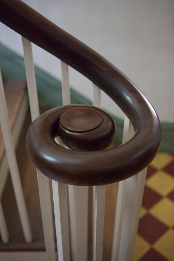 Spiral banister at Travellers Rest Plantation