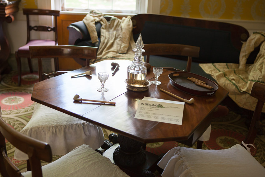 Dining table at travellers rest