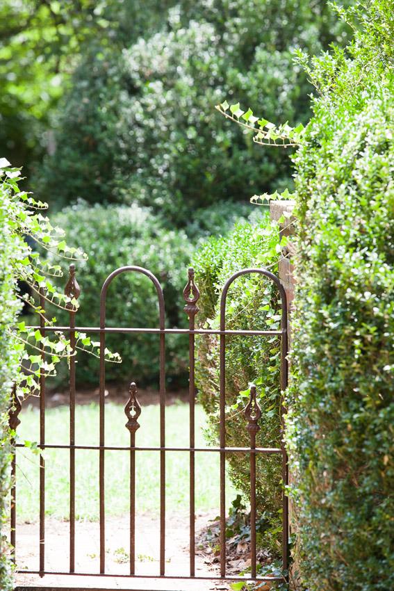 vintage iron gate