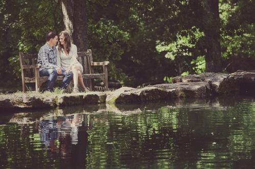 Springtime Engagement Session at Cheekwood Gardens