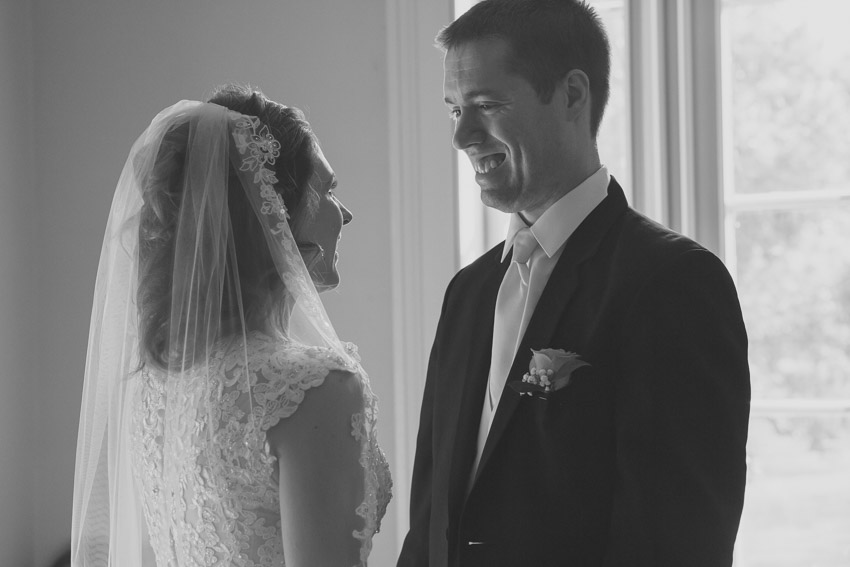 Groom happy to see bride for first time