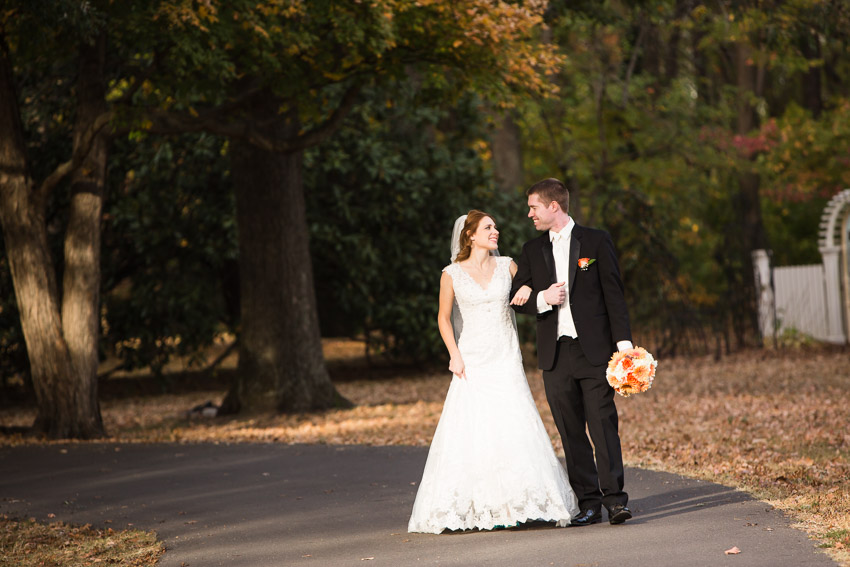 The light, the weather, the fall color and the couple, were all perfect!