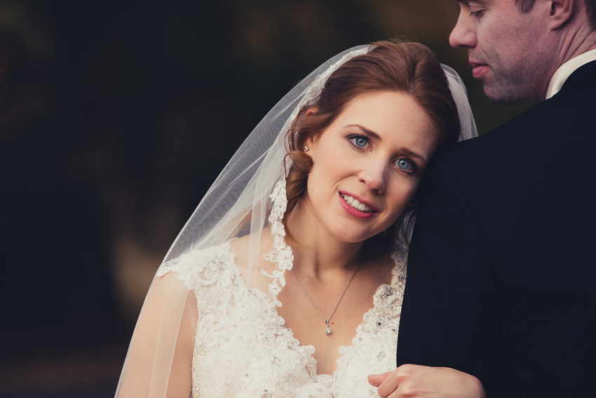 The lace detail on the veil was exquisite!