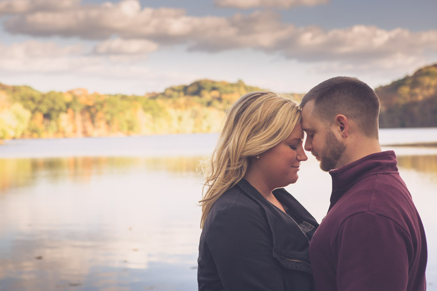 Such a perfect romantic location for an engagement session!