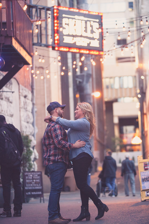 It is great when our couples can connect on a busy street like no one else is around :)