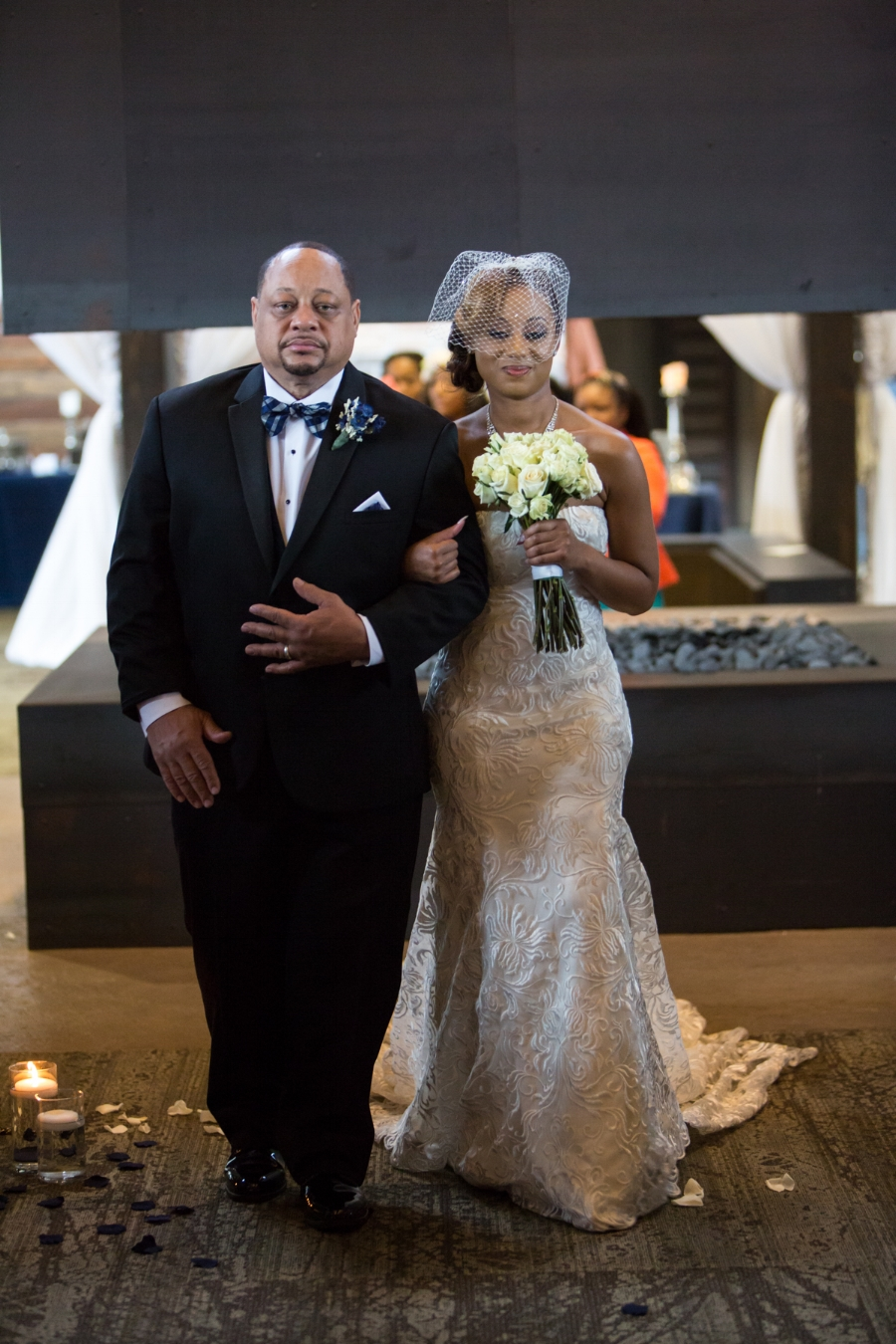 Amber's father walked her down the isle.