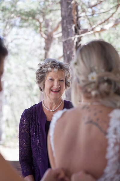 One of the moments we always enjoy, is when the parents see their daughter for the first time in her wedding dress.