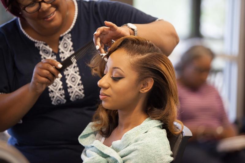 Keniece Burks of  The Artist Corner Studio  did a beautiful job on Ambers Makeup.