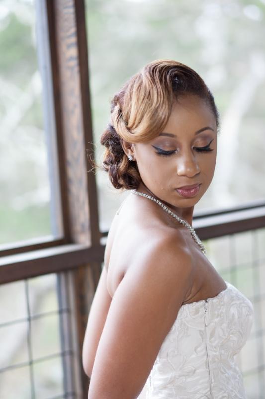 bride posing for photo