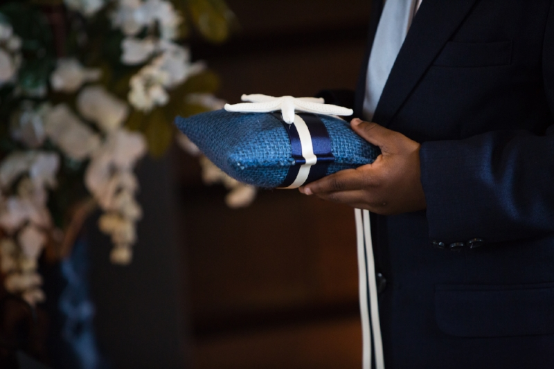 ring bearer pillow with shell