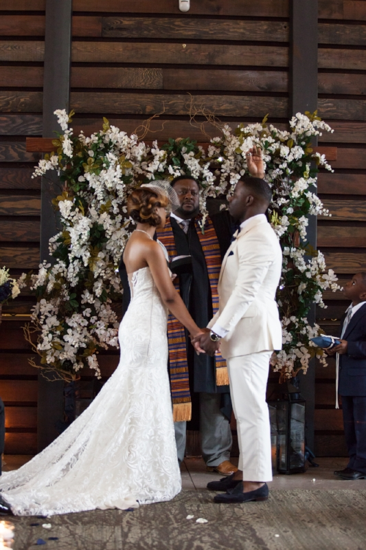 wedding ceremony at Nelson Andrews Leadership Lodge
