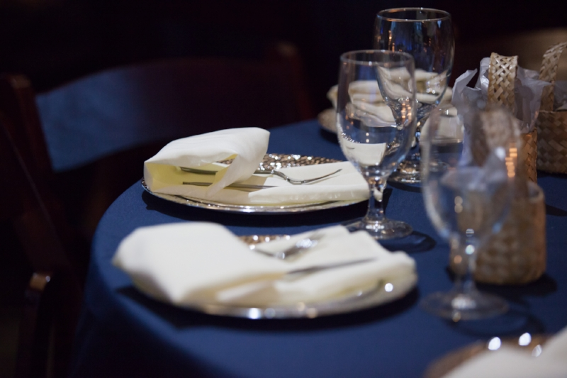 Table Setting at Reception