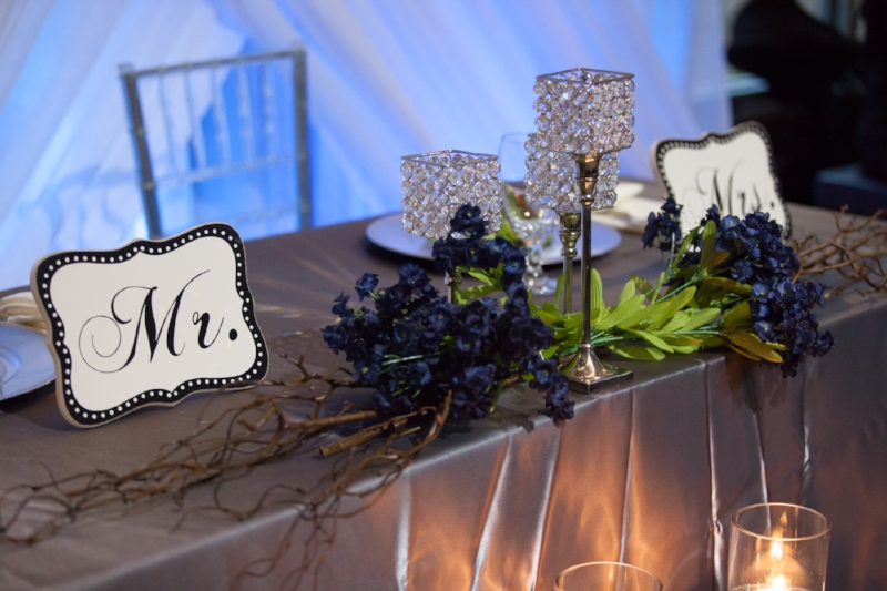 Head table for reception