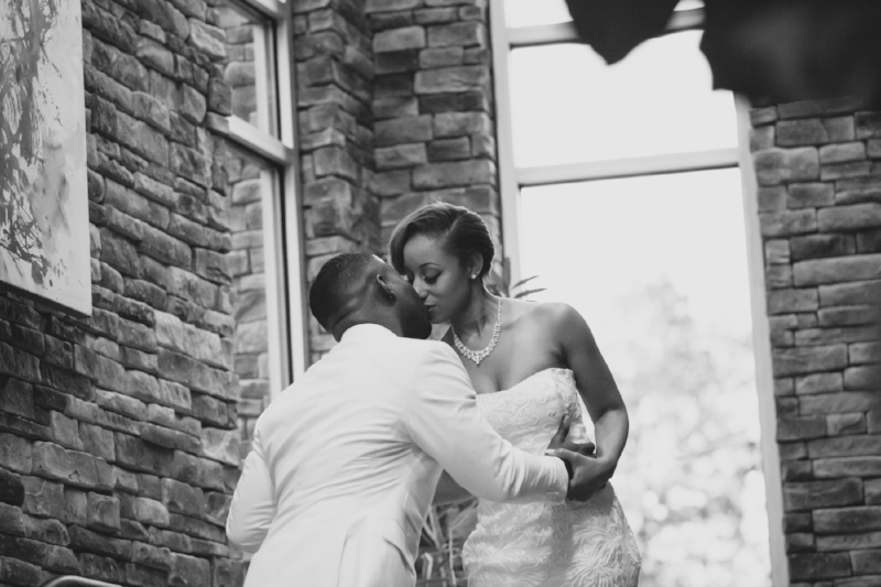 Bride with Groom after wedding at The Lodge in Nashville