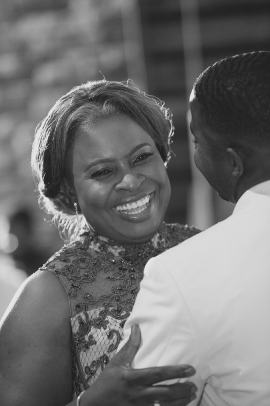 Such a sweet and happy time for the mother of the groom.