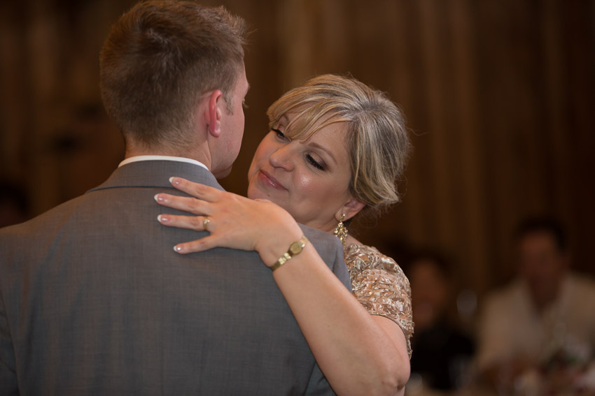 A perfect mother-son dance to celebrate the evening.