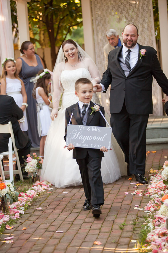 Ring Bearer with Announcement sign