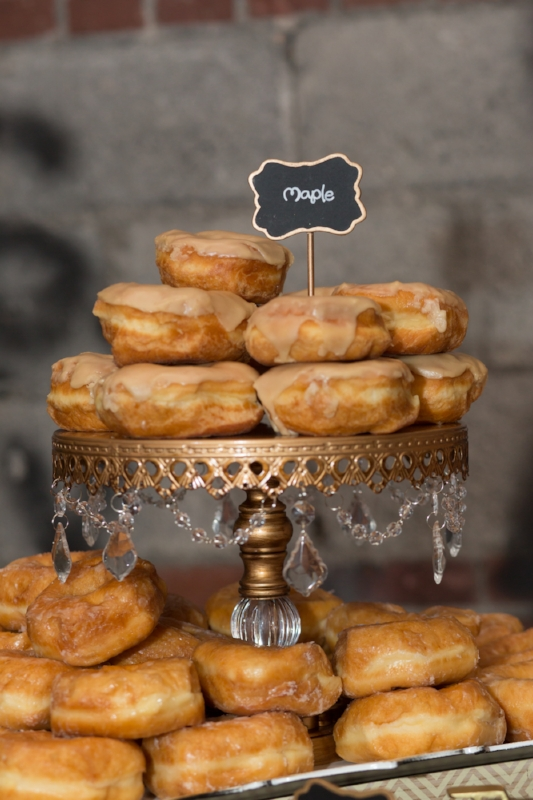 A variety of donuts for wedding guests to enjoy