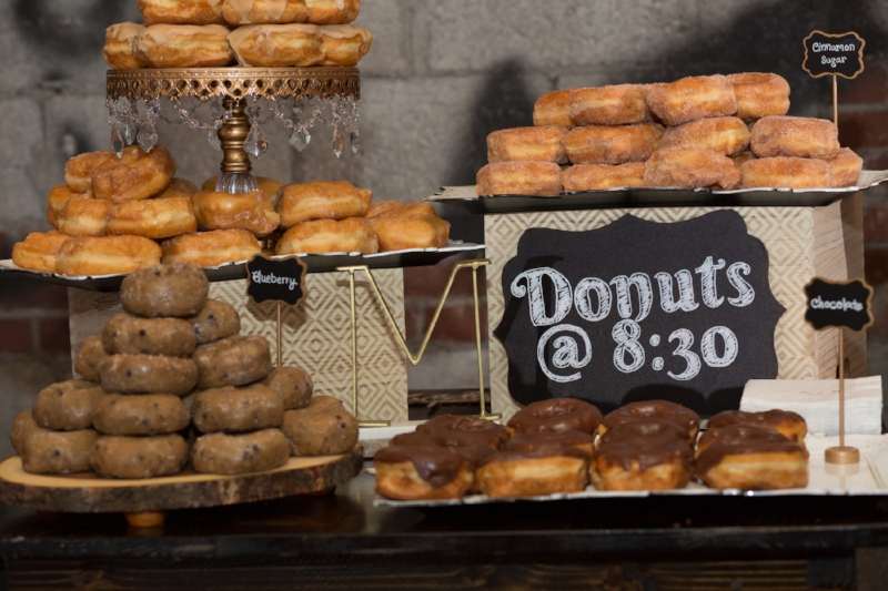 Donuts for wedding reception