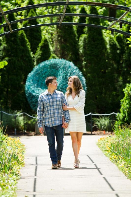 Cheekwood Gardens Engagement Session Photo