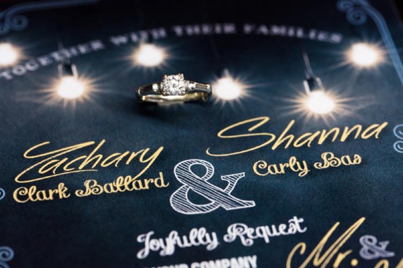 We love her custom designed wedding invitations.