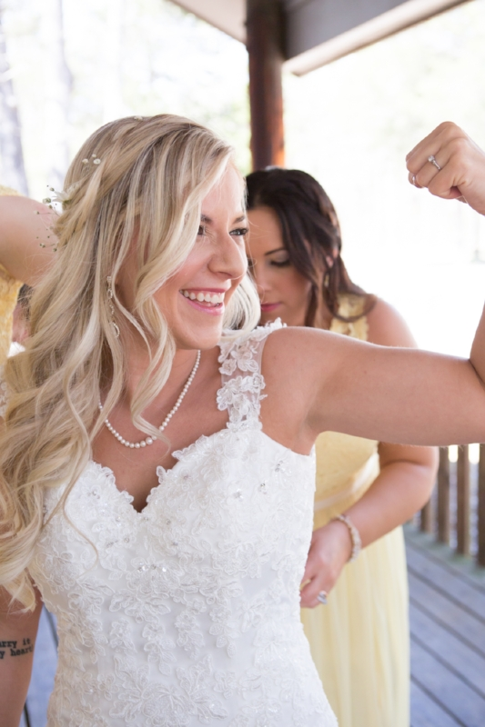 Happy and fit Bride