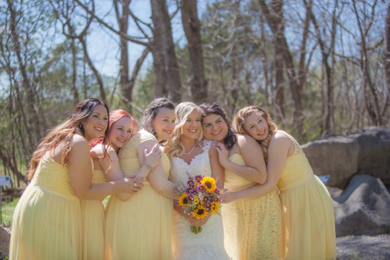 Bride and Bridesmaids at Cedars of Lebanon
