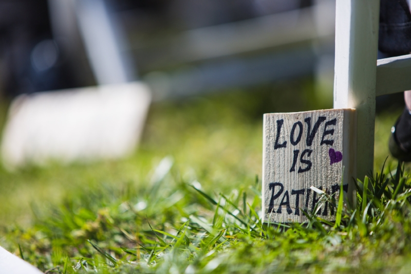 Love is patient sign in isle