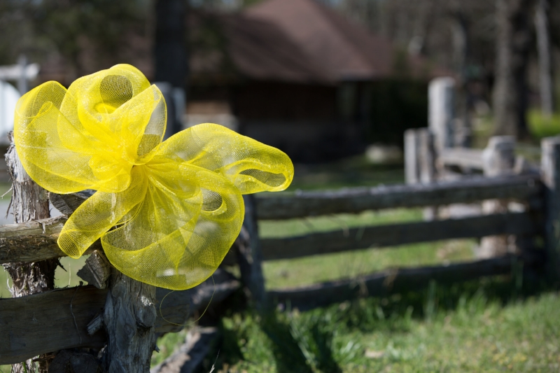 yellow ribbons for wedding