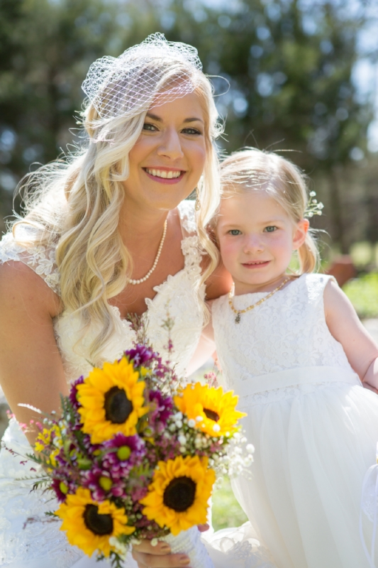 Adorable flower girl! No nerves for this one either, she was great the whole day.