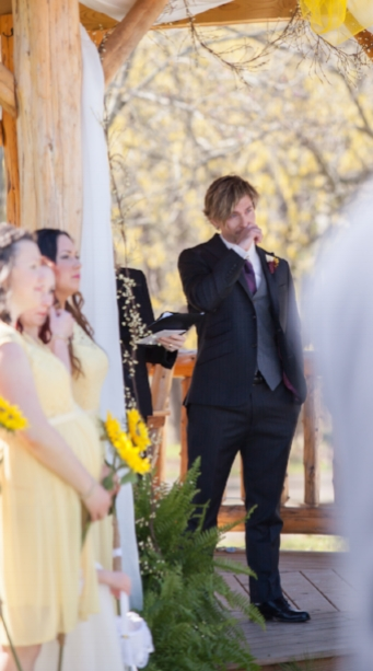 That special moment you see your bride for the first time.