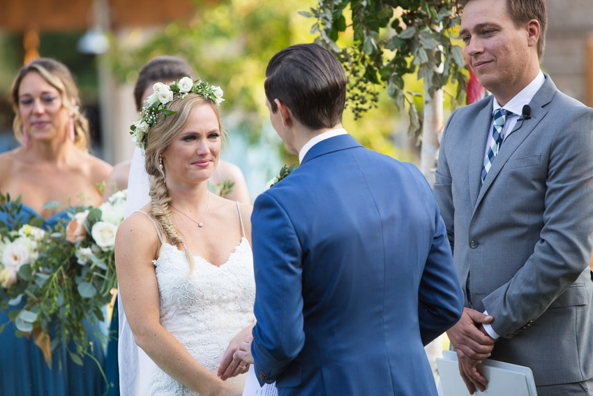 Adam and Andrea wrote their own vows and their was not a dry eye during the wedding ceremony.
