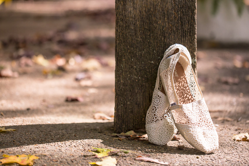 Toms wedding day shoes